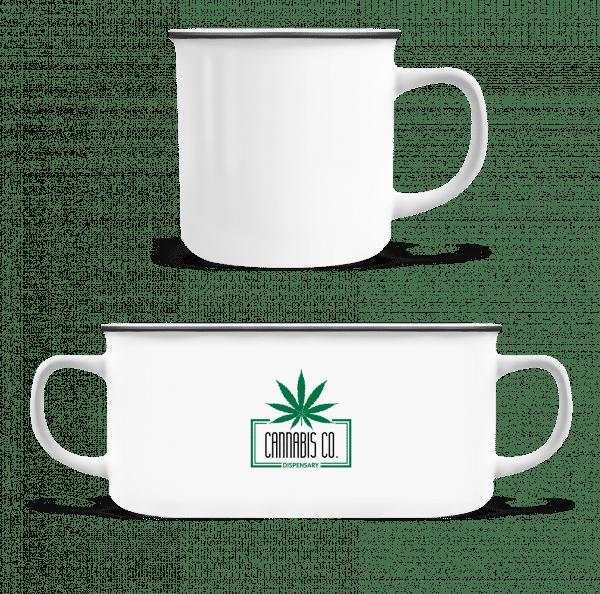 Cannabis Co. Icon - Enamel-cup - White - Vorn