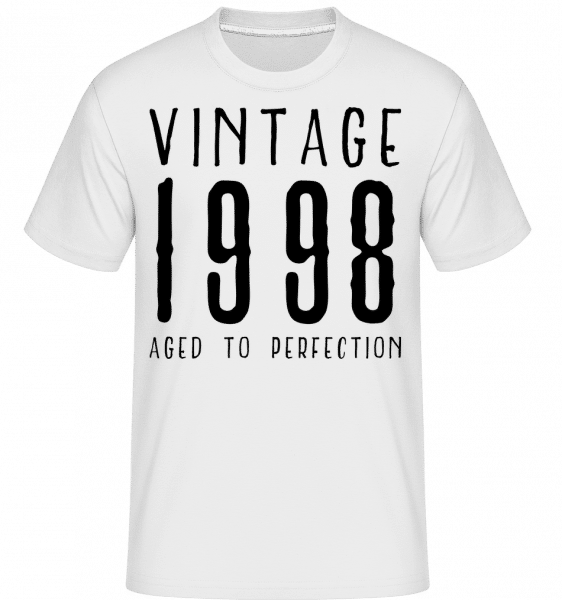 Vintage 1998 Aged To Perfection - Shirtinator Männer T-Shirt - Weiß - Vorn