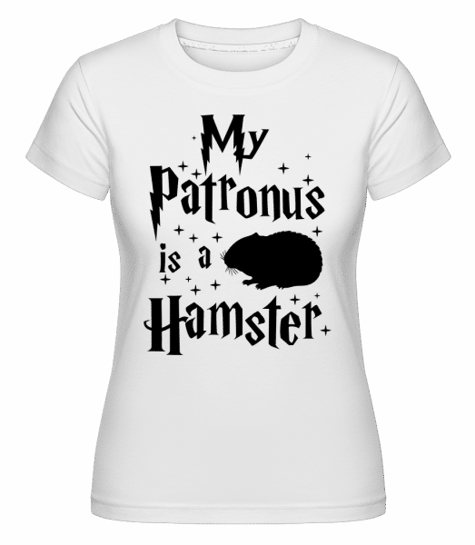 My Patronus Is A Hamster - Shirtinator Frauen T-Shirt - Weiß - Vorn