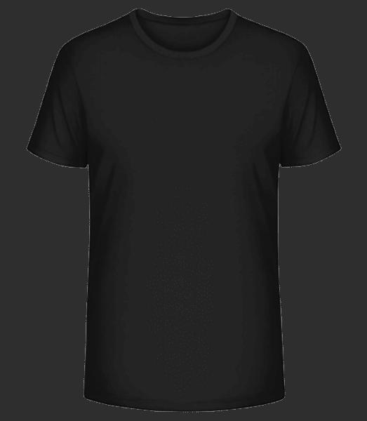 Pánske premium bio tričko Stanley Stella - Čierna - Predné