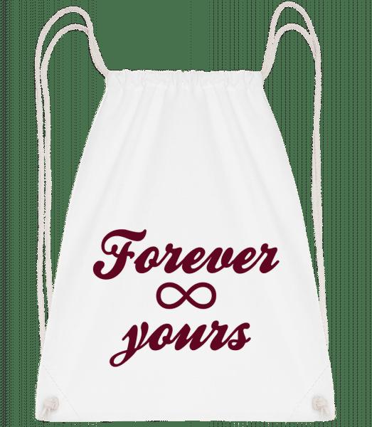 Forever Yours - Drawstring Backpack - White - Vorn