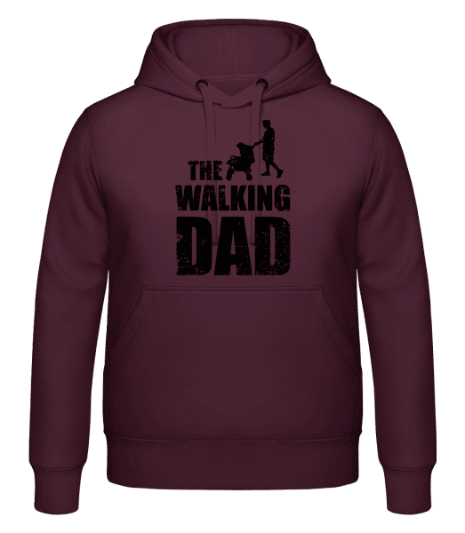 The Walking Dad - Hoodie - Bordeaux - Vorn