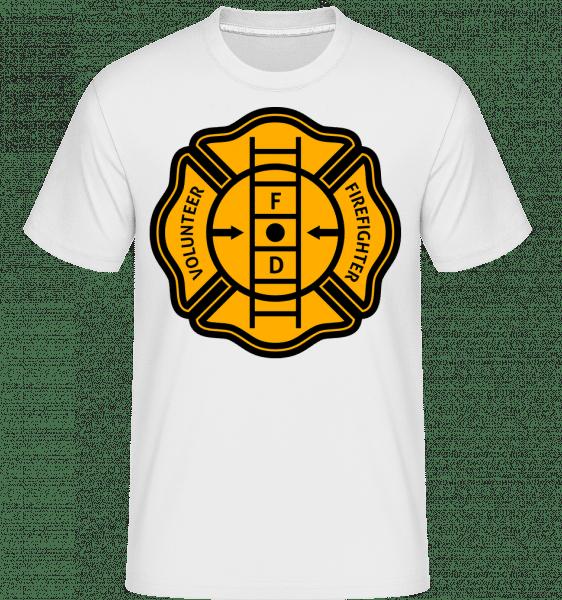 Volunteer Firefighter -  Shirtinator Men's T-Shirt - White - Front