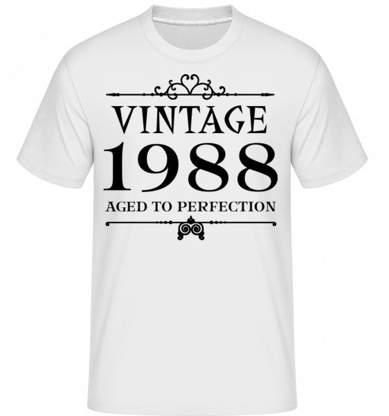 Vintage 1988 Perfection -  Shirtinator Men's T-Shirt - White - Vorn