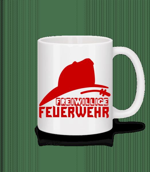 Freiwillige Feuerwehr - Tasse - Weiß - Vorn