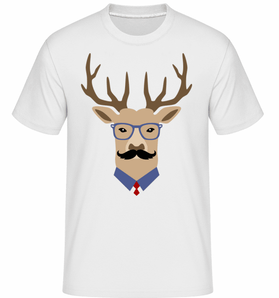 Hipster Hirsch -  Shirtinator Men's T-Shirt - White - Vorn