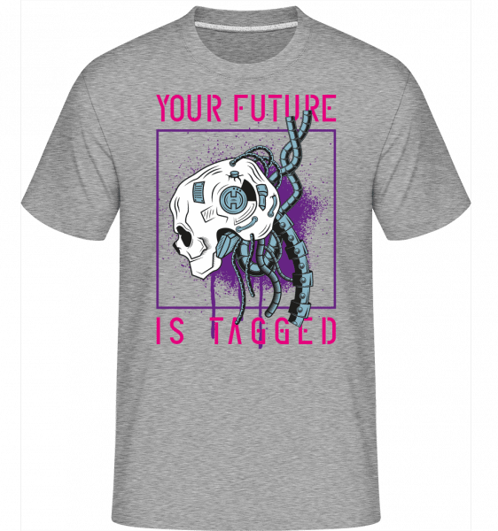 Your Future Is Tagged -  Shirtinator Men's T-Shirt - Heather grey - Front