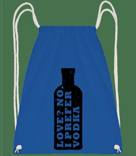 I Prefer Vodka - Drawstring Backpack - Royal blue - Vorn