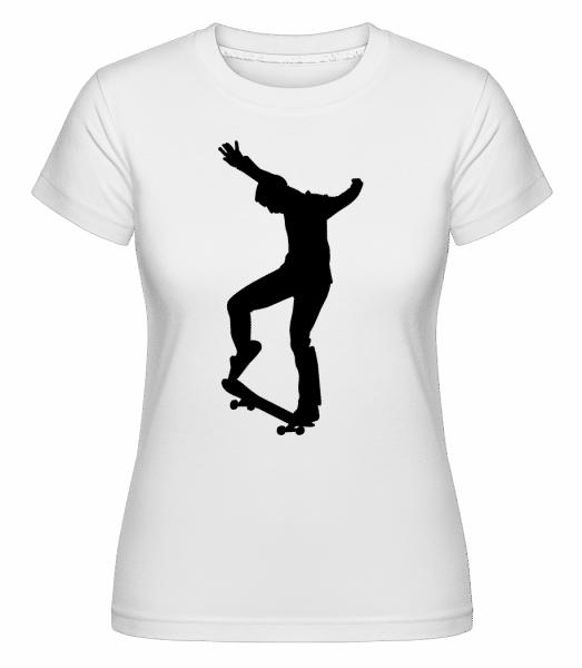 Skater Manual -  Shirtinator Women's T-Shirt - White - Front