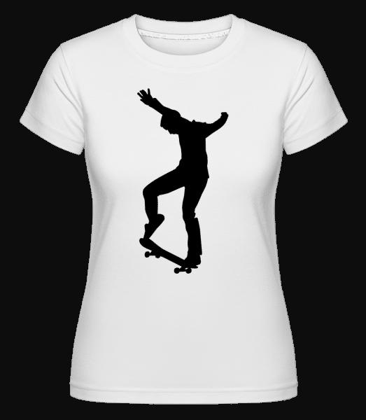 Skateboarder Manual - Shirtinator Frauen T-Shirt - Weiß - Vorn