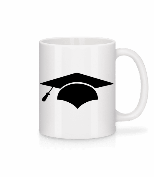 Graduation Cap - Mug - White - Vorn