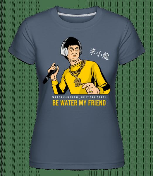 Bruce Lee Rapper -  Shirtinator Women's T-Shirt - Denim - Vorn