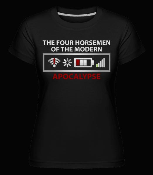 moderní Apocalypse -  Shirtinator tričko pro dámy - Černá - Napřed