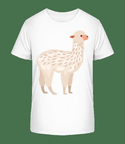 Alpaca - Kid's Premium Bio T-Shirt - White - Vorn