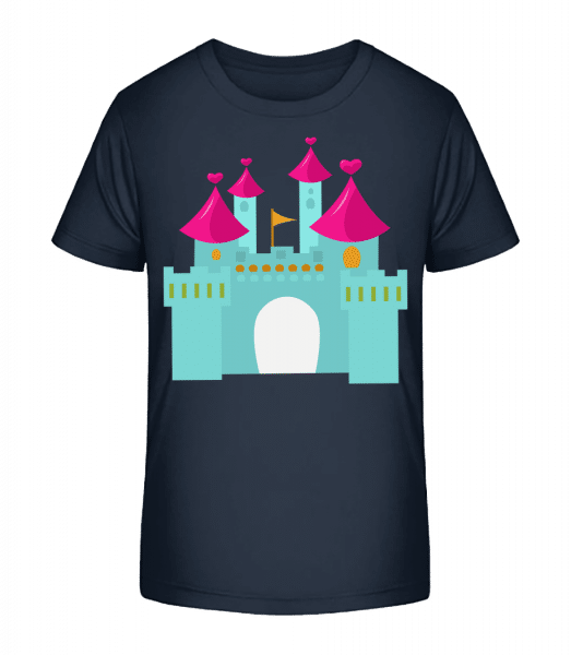 Princess Castle - Kid's Premium Bio T-Shirt - Navy - Front