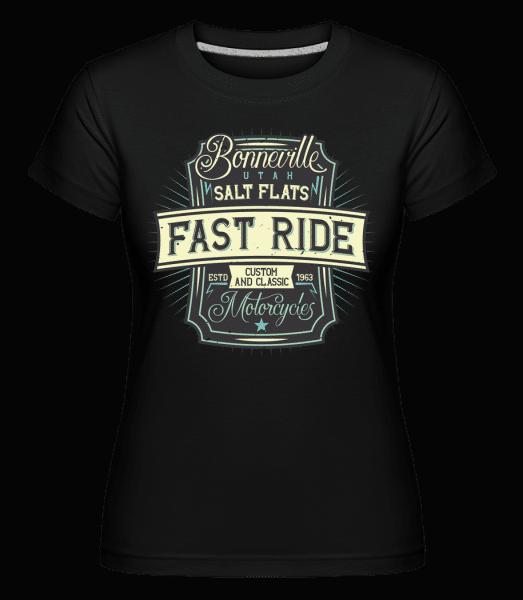 Fast Ride -  Shirtinator Women's T-Shirt - Black - Vorn