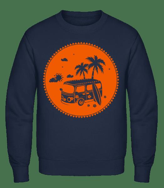 Holiday Icon Orange - Classic Set-In Sweatshirt - Navy - Vorn