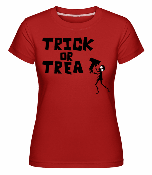 Trick Or Treat -  Shirtinator Women's T-Shirt - Red - Vorn