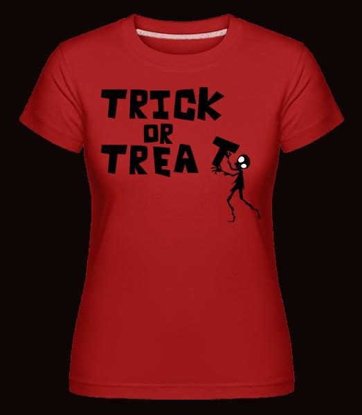 Koleda -  Shirtinator tričko pro dámy - Červená - Napřed