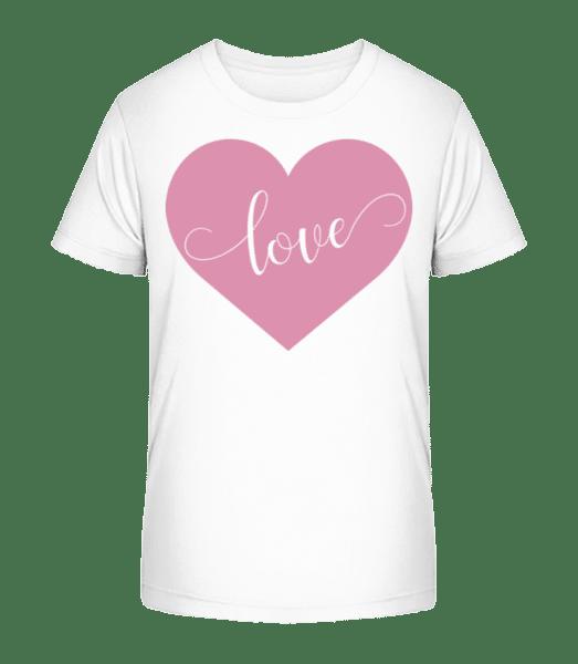 Love - Kid's Premium Bio T-Shirt - White - Vorn