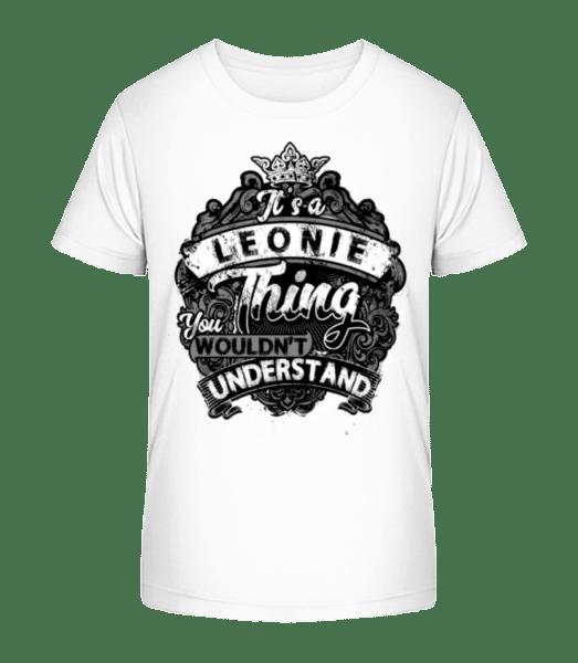 It's A Leonie Thing - T-shirt bio Premium Enfant - Blanc - Vorn
