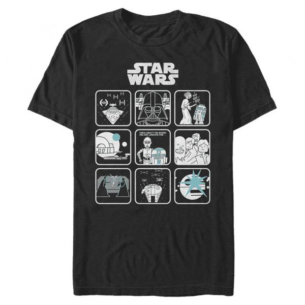Episode Four Story Group Shot - Star Wars a New Hope - Men's T-Shirt - Black - Front