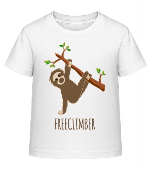 Freeclimber Sloth - Kid's Shirtinator T-Shirt - White - Vorn