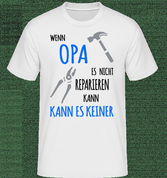 Wenn Opa Es Nicht Reparieren Kann - Shirtinator Männer T-Shirt - Weiß - Vorn