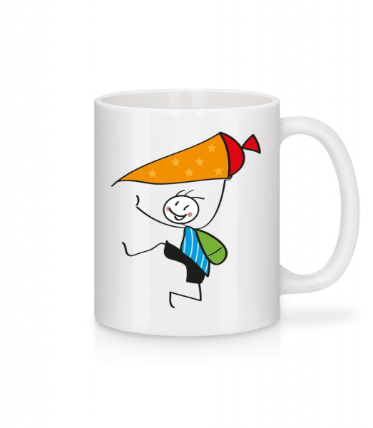 Child With Cornet Filled With Sweets - Mug - White - Front