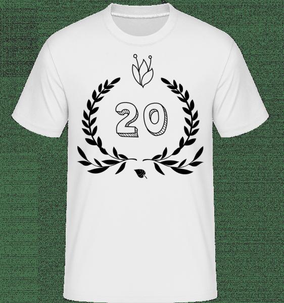 20th Birthday -  Shirtinator Men's T-Shirt - White - Vorn