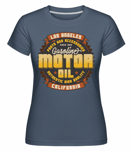 Motor Oil -  Shirtinator Women's T-Shirt - Denim - Front