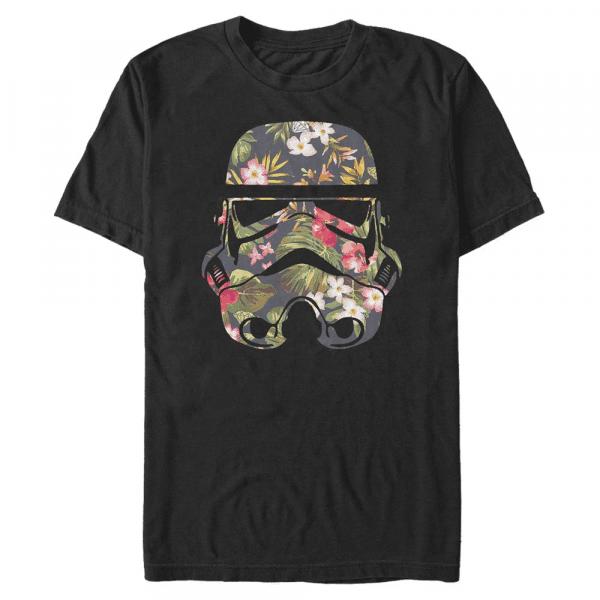 Storm Flowers Stormtrooper - Star Wars - Men's T-Shirt - Black - Front