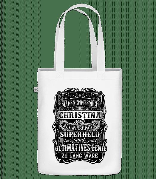 Man Nennt Mich Christina - Bio Tasche - Weiß - Vorn