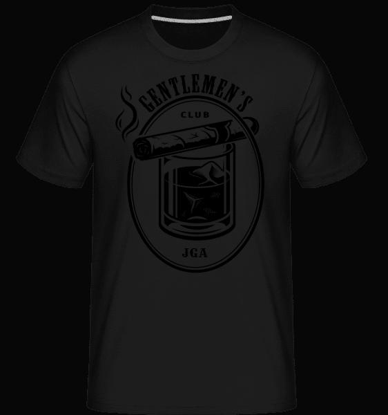 Gentlemen's Club Team JGA - Shirtinator Männer T-Shirt - Schwarz - Vorn