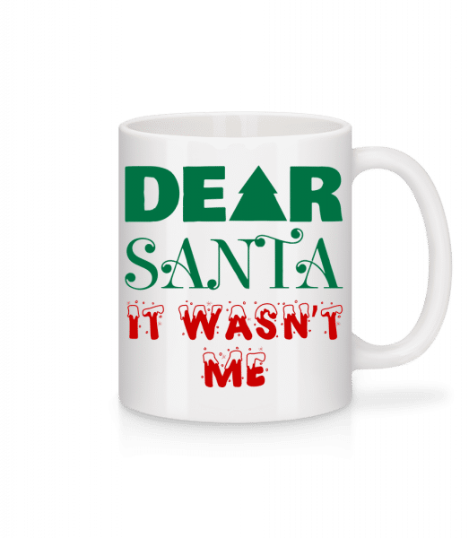 Dear Santa It Wasn't Me - Mug - White - Vorn