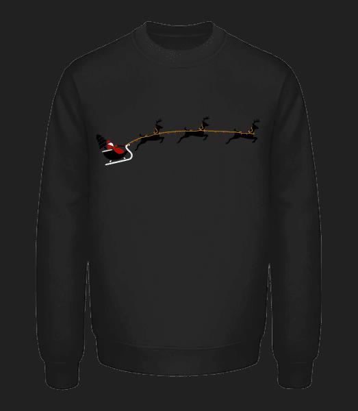 Santa Claus Reindeer - Unisex Sweatshirt - Black - Vorn
