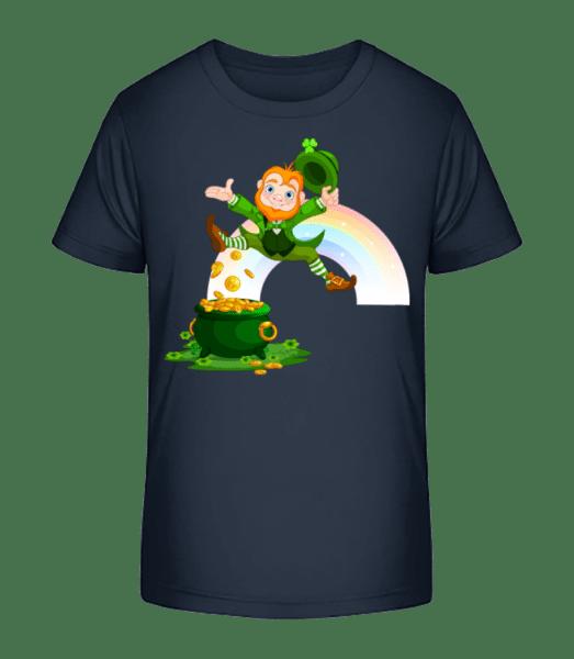 Irish Fairy Logo - Kid's Premium Bio T-Shirt - Navy - Front