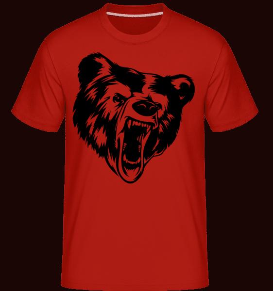 Wild Bear Icon -  Shirtinator Men's T-Shirt - Red - Vorn