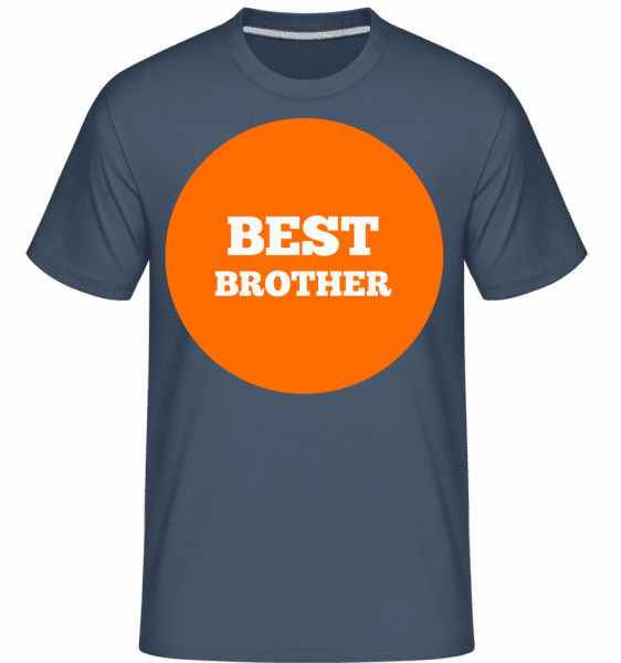Best Brother -  Shirtinator Men's T-Shirt - Denim - Vorn