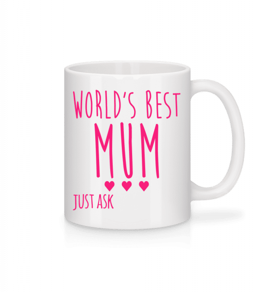World's Best Mum - Mug - White - Vorn