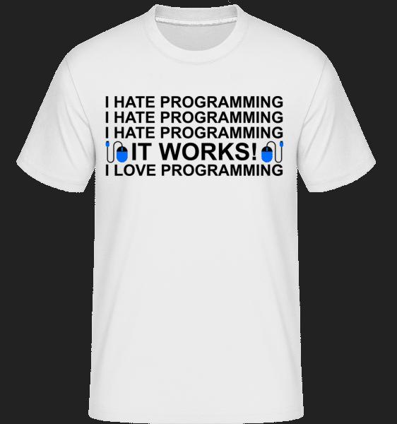 I Love Programming -  Shirtinator Men's T-Shirt - White - Vorn
