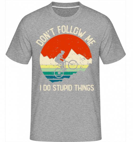 Don't Follow Me I Do Stupid Things -  Shirtinator Men's T-Shirt - Heather grey - Front