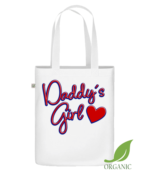 "Daddy's Girl - Organic ""Earth Positive"" tote bag - White - Vorn"