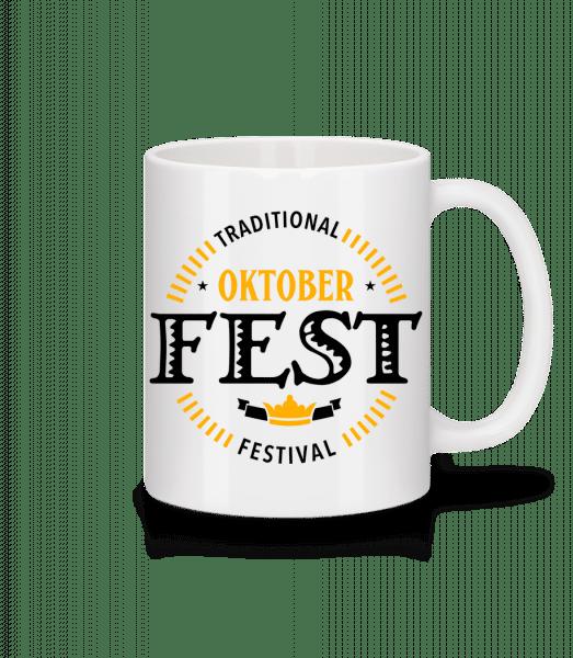 Traditional Oktober Festival - Mug - White - Vorn