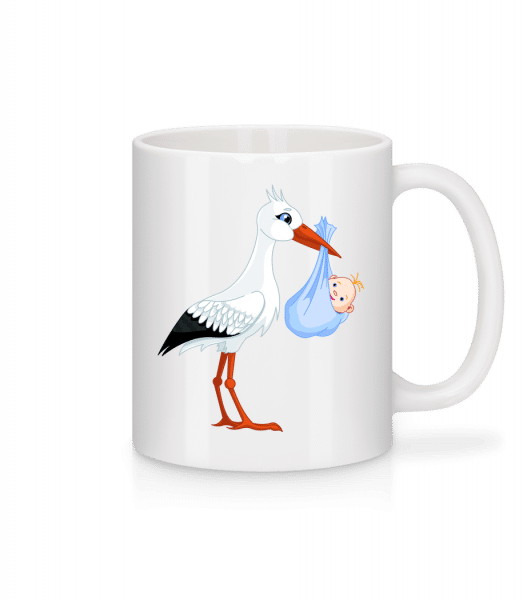 Storch Bringt Baby - Tasse - Weiß - Vorn
