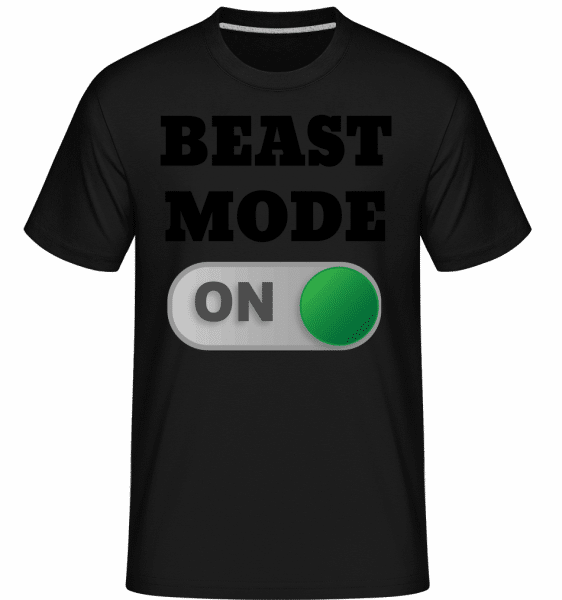 Beast Mode On -  Shirtinator Men's T-Shirt - Black - Front