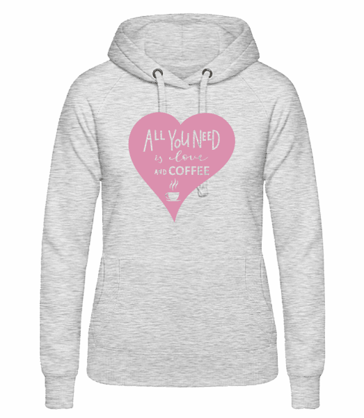 Love And Coffee - Women's hoodie - Heather grey - Vorn
