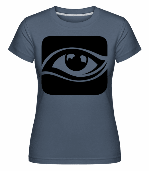 Eye Icon Black - Shirtinator Frauen T-Shirt - Denim - Vorn