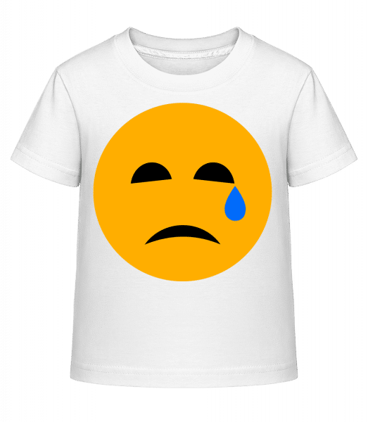 Crying Smiley - Kid's Shirtinator T-Shirt - White - Vorn