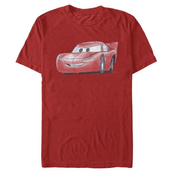 McQueen Sketch Lightning McQueen - Pixar Cars 1-2 - Men's T-Shirt - Red - Front